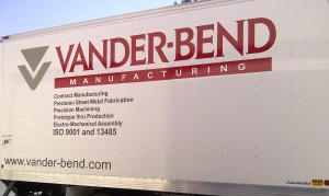 Truck Graphic with vinyl and digital print logo