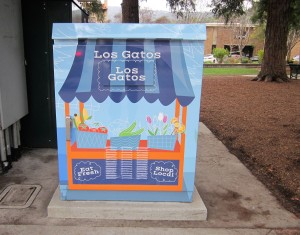 Full Color Digital Print Graphics on Utility Box - City of Los Gatos