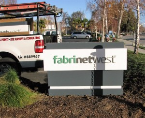 Custom Monument Sign With Dimensional Letters - Fabrinet West