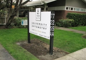 Custom Post and Panel Monument - University Optometry
