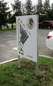 Site Map - Post and Panel Sign - Mexican Consulate