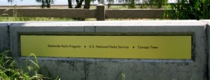New Brushed Gold Panel Sign - Cooley Landing Park, East Palo Alto
