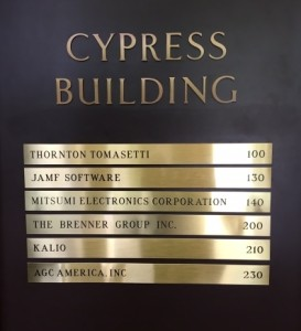 Directory Name Plate