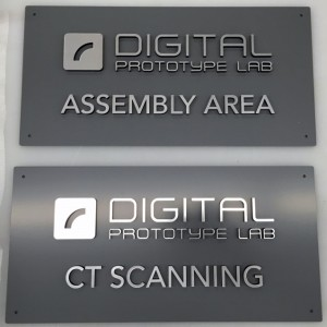 Custom Dimensional Door Sign - Radius