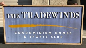 Before Photo - Refurbished Sign - Tradewinds Condos