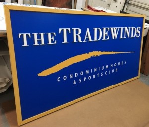 After Photo - Refurbished Sign - Tradewinds Condos