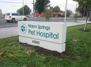 Monument Sign with Dimensional Graphics - Warm Springs Pet Hospital
