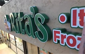 Illuminated Channel Letters and Logo - Rita's