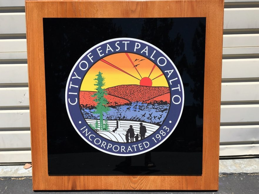 Wall Plaque for City of East Palo Alto in San Jose, CA