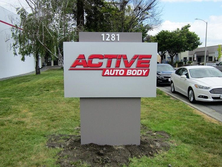 Active Auto Body Customized Yard Signs in San Jose, CA