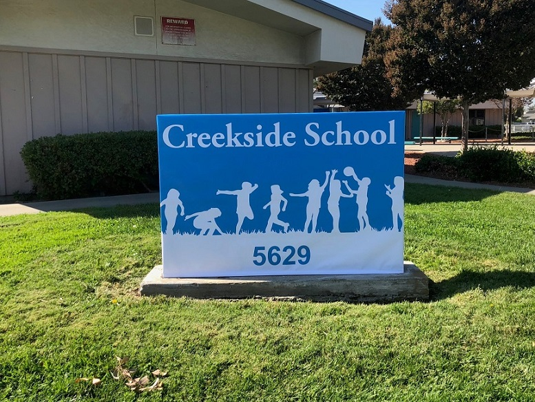 Creekside School Yard Signs in San Jose, CA