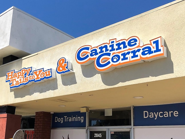 3D Building Signs and Logos for Canine Corral in San Jose, CA