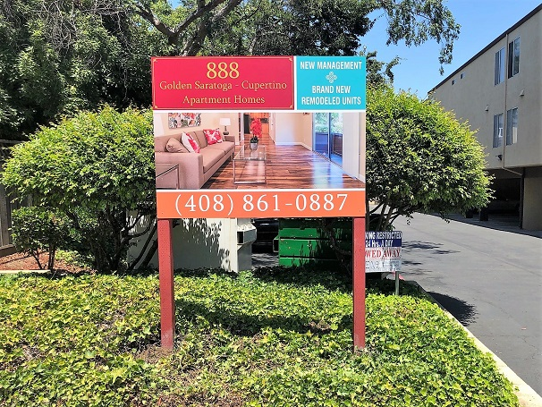 Business yard signs for Apartment Homes in San Jose, CA