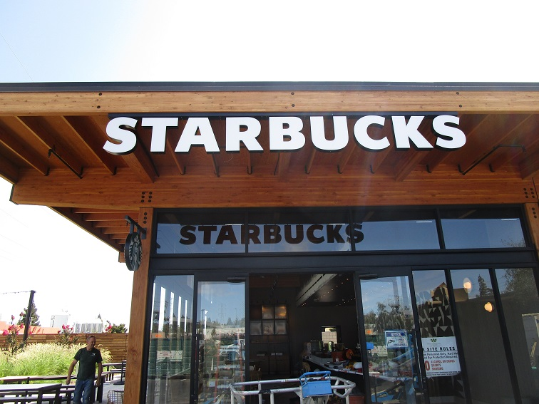 Custom Sign Letters for Starbucks in San Jose, CA