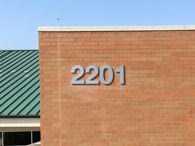 Commercial Building Address Signs in San Jose, CA