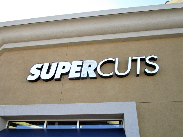 Super Cuts Channel Letters Custom Made in San Jose, CA