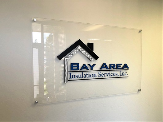 Bay Area Glass Lobby Signs by Signs Unlimited in San Jose, CA